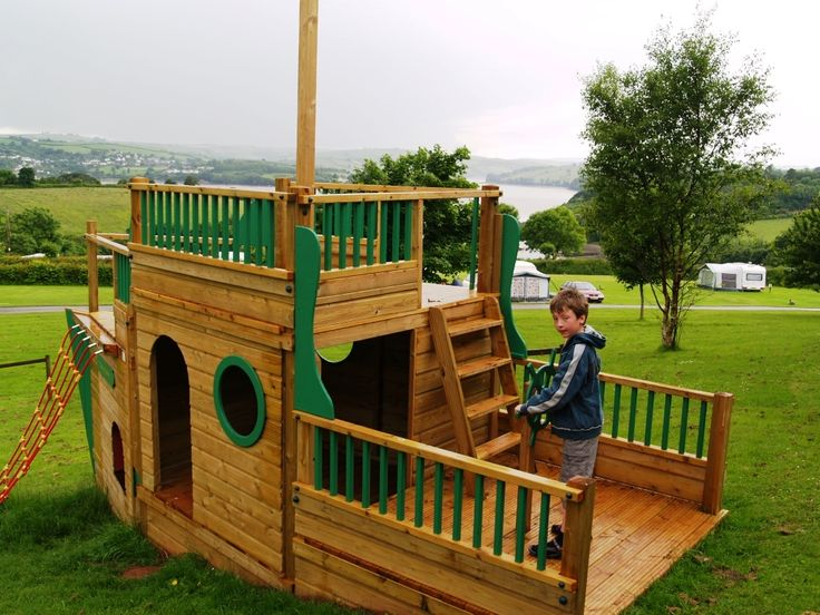 Pirate ship playhouse google search pirate ship - Pirate ship wooden playground ...