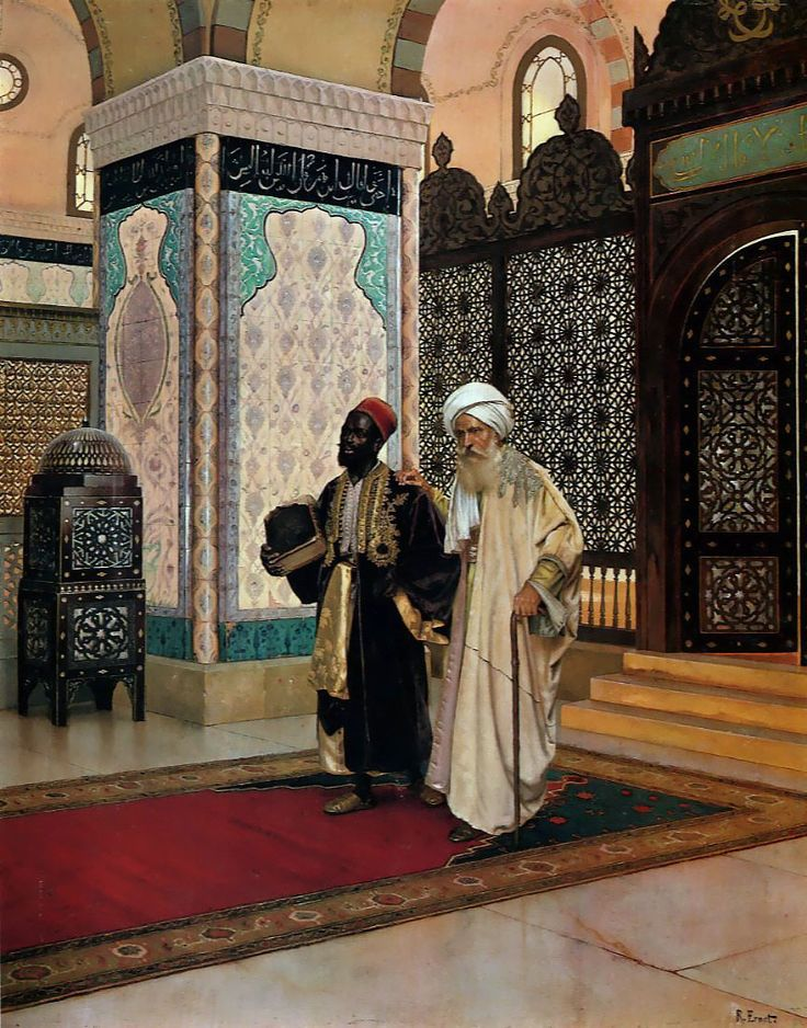 """After Prayer"" by Rudolf Ernst"