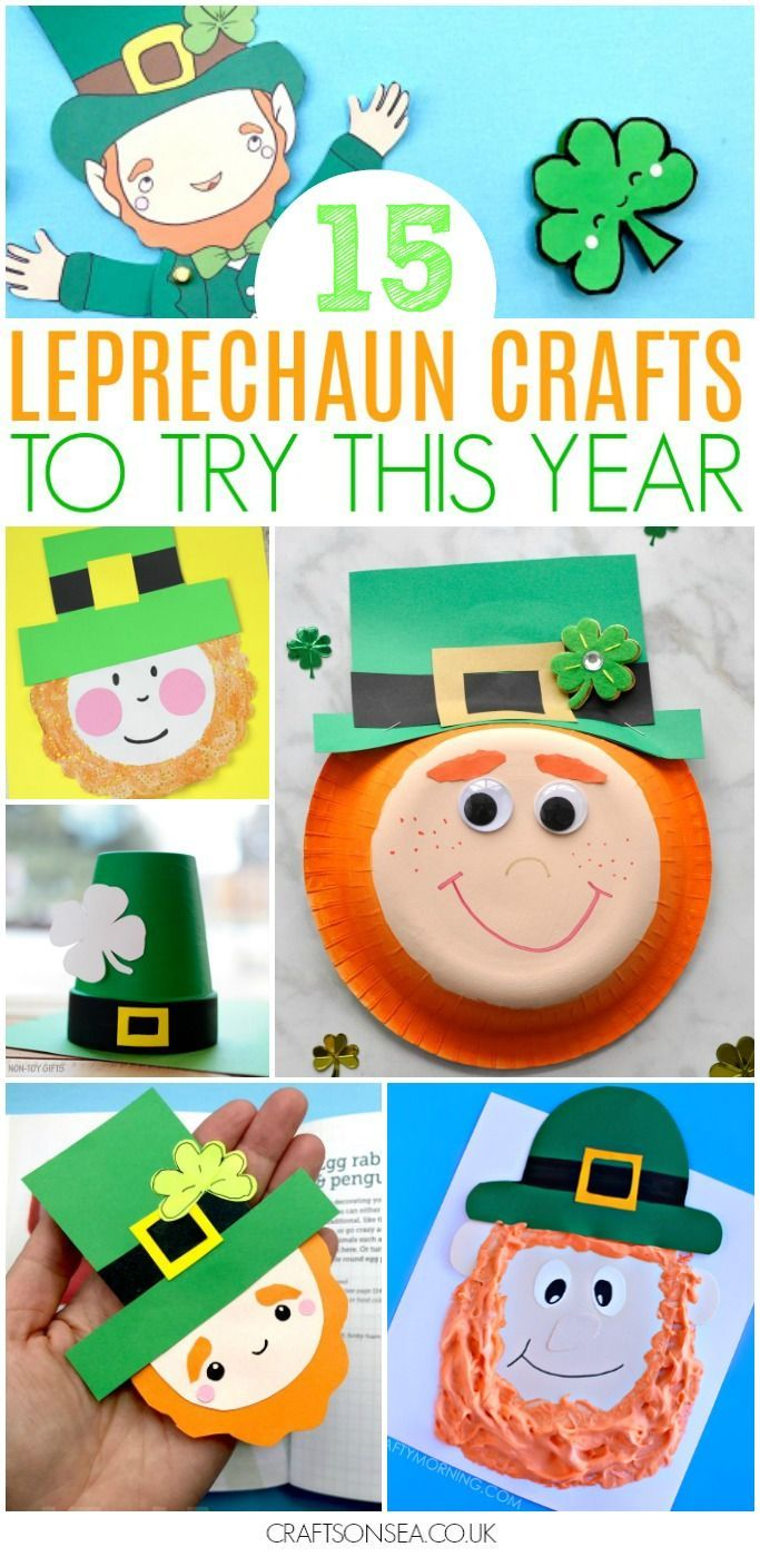 15 Leprechaun Crafts for Kid Need some leprechaun crafts for kids? We've rounded up the best inspiration out there so you'll have the absolute best St Patricks Day crafts all in one place where you need them! #stpatricksday #kidscrafts #kidsactivities