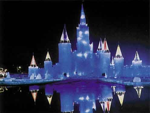 Frattalone and Associates, Inc. - Winter Frolics, St. Paul Winter Carnival Ice Palace Article including pictures of Intelligent Architectural Lighting.