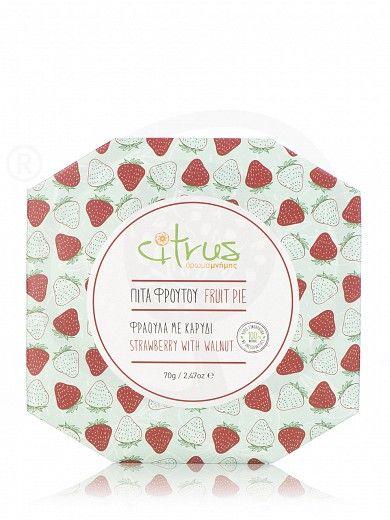 """Παραδοσιακή πίτα με φράουλα & καρύδι, Χίου """"Citrus"""" 70g"""