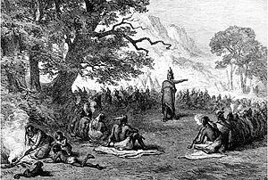 Pontiac's Rebellion occurred in 1763. During this revolt, the British took over their forts and wouldn't give them any supplies. Native American groups responded by attacking settlers and destroying British forts west of the Appalachians.