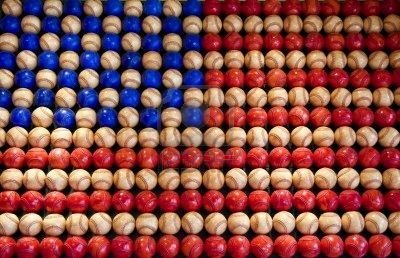 Baseballs used to make Old Glory!Red, Canvas Prints, American Flags, Flags Usa, American League, Baseball Flags, Basebal Flags, American Stars, Baseball American