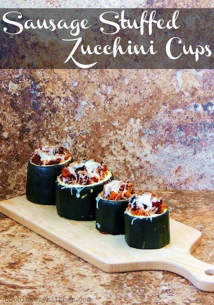 Bobbi's Kozy Kitchen: Sausage Stuffed Zucchini Cups #SundaySupper