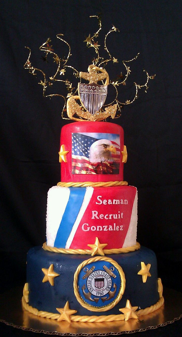Retirement cake??  (except the Seaman Recruit should not have a Chief's anchor on top!)