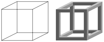 Necker cube and impossible cube - Louis Albert Necker - The Necker cube is an optical illusion first published as a rhomboid in 1832 by Swiss crystallographer Louis Albert Necker.
