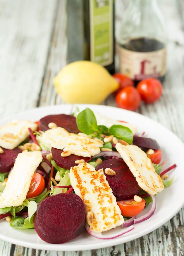 Halloumi and Beetroot Salad a lunch or dinner option at less than 300 calories and being equally quick and simple to make.