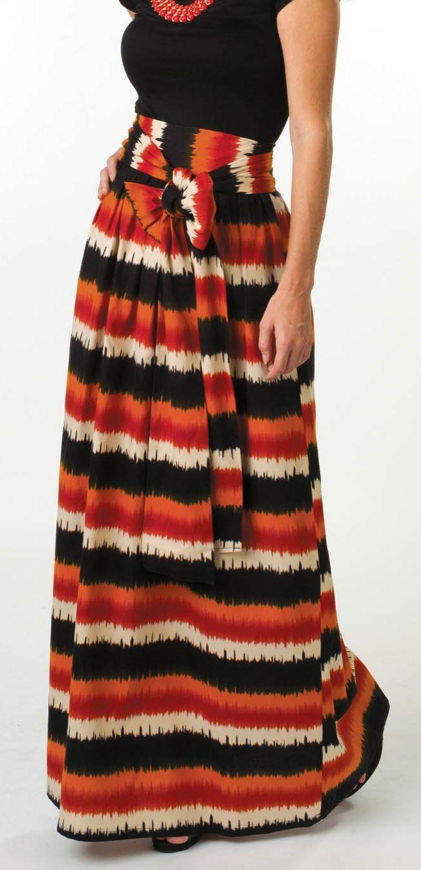 High Waist Bow Skirt | DIY Maxi Skirt from @joannstores