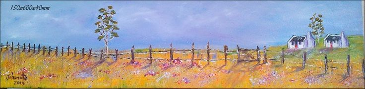 60	Namaqualand 	Oil Painting 	Stretched Canvas 150x600x40mm