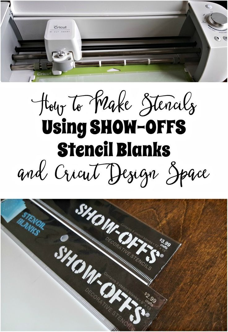 If you've ever wondered if you can use the SHOW-OFFS Stencil Blanks with your Cricut Machine, the answer is yes! I'll walk you through the process of how I make beautiful stencils using these blanks with the Cricut. How to Make Stencils Using SHOW-OFFS Stencil Blanks and Cricut Design Space