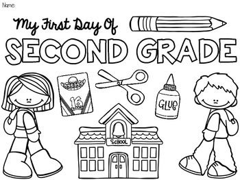 These Coloring Pages Will Make An Easy First Day Of School Activity The Can Be Crazy Dealing With Parents And Those Little Ones