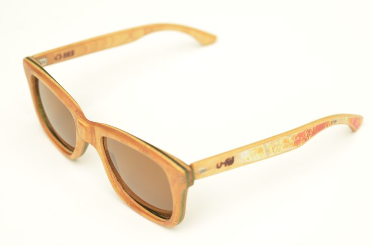Hand made sunglasses, recycled from a Zero skateboard. by U-FIT/ARGENTINA