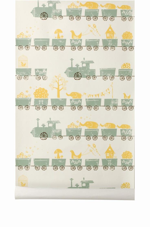 ferm LIVING KIDS - Wallpaper - 505 Tiny Train