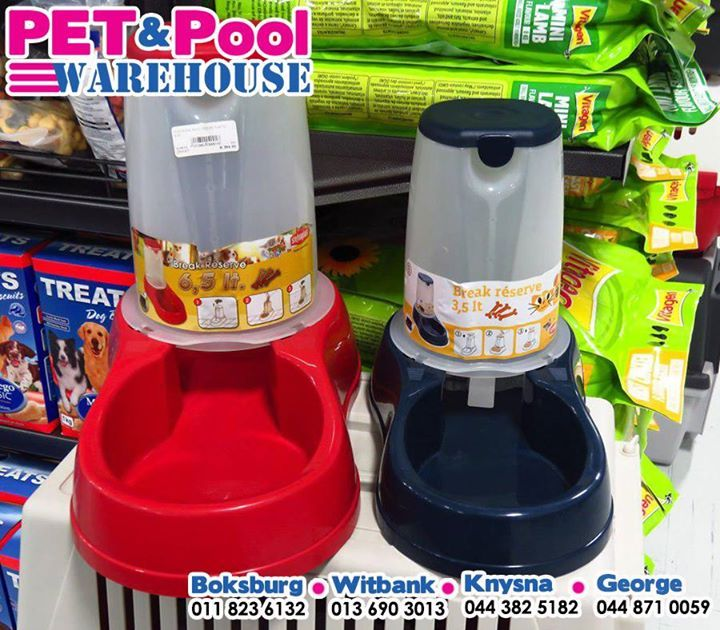 Stock up on assorted pet feeders for your favourite pets, get yours from your nearest #PetPoolWarehouse branch. #ilovemypets