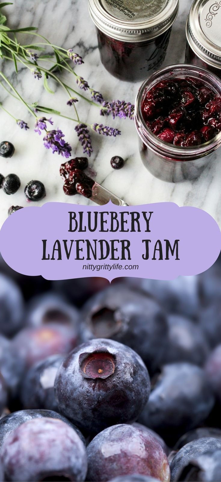 Fruity and floral, this blueberry and lavender jam captures my favorite aromas and flavors of summer.