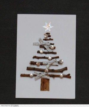 leuke kerstboom op kaart