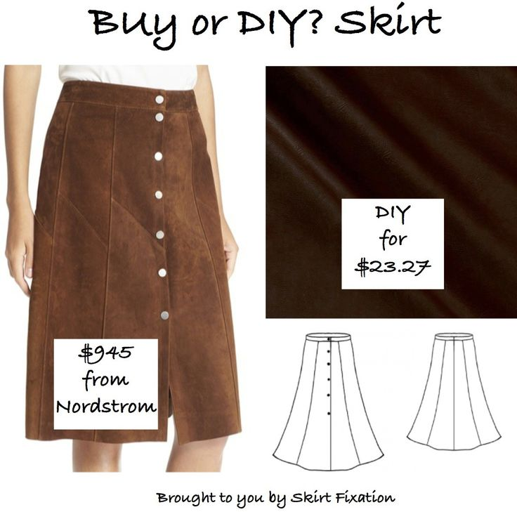 Skirt Fixation shows you how to make this Nordstrom skirt for a LOT less money!