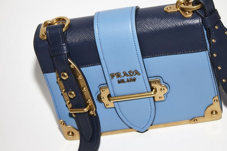 The Navy Clutch by Prada