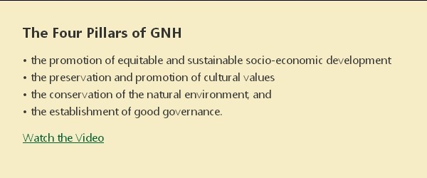 The Four Pillars of GNH (Gross National Happiness)Gnh Gross, Gross National, National Happy