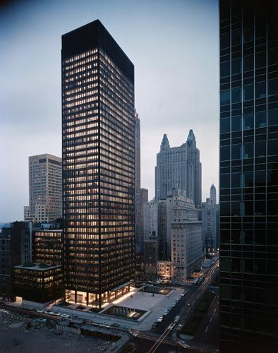 Seagram Building  375 Park Avenue, NYC  Designed by Ludwig Mies van der Rohe  This might be my favorite building on the entire island.