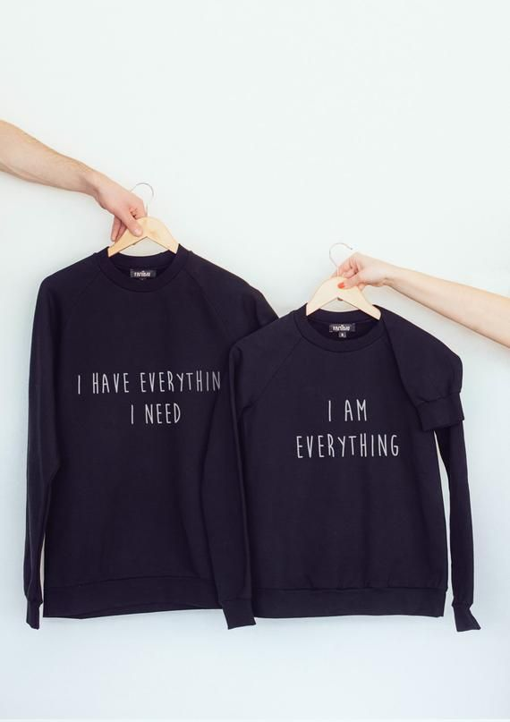a83d777aeb Black couples hoodie sweatshirts for him and her is perfect matching  clothing for many occasion: parties, Valentines day, wedding,  anniversaries, ...
