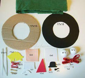 Corona Navideña con Goma eva y papel crespón | Creando y Fofucheando