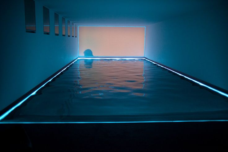 Light artist James Turrell's installations are spectacular. This particular installation involves a pool and a lot of neon light. Fantastic.