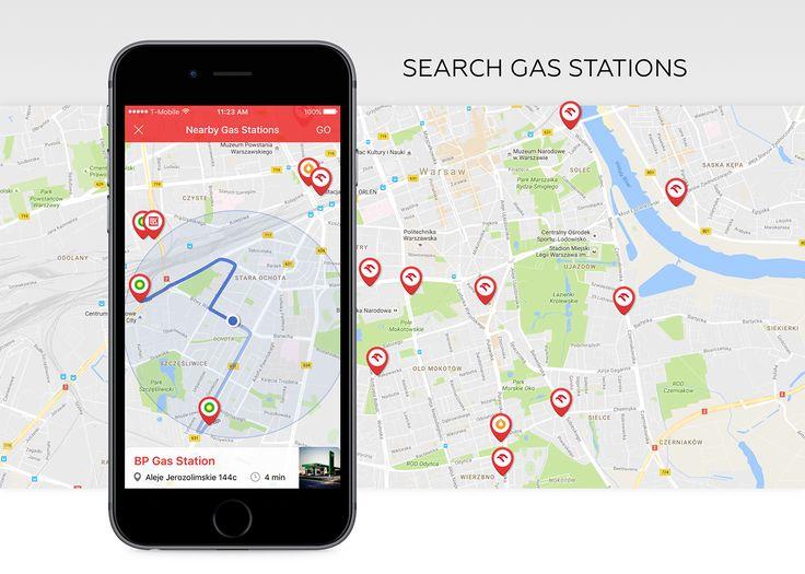 Gas Stations Finder on Behance