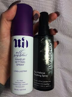 Face Off: Skindinavia vs Urban Decay Setting Spray - which is best? #urbandecay #skindinavia #settingspray #makeup #beautyblogger #review