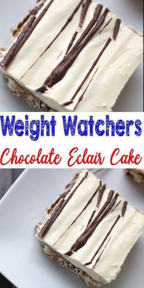 Weight Watchers Schokoladen-Eclair-Kuchen – BEST WW Rezept – KEIN Bake – Treat – Dessert – Snack mit Smart Points
