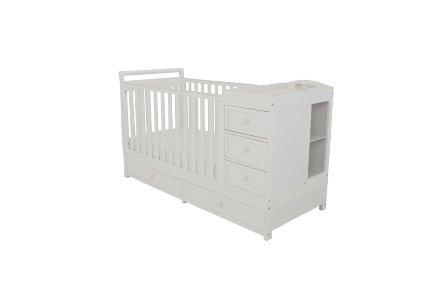 Amazon.com: Athena Daphne Convertible Crib and Changer, White: Baby