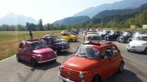 EDIZIONE DA RICORDARE: 100 FIAT 500 SULLE MONTAGNE FRIULANE PER 300 KM, OLTRE 200 PARTECIPANTI