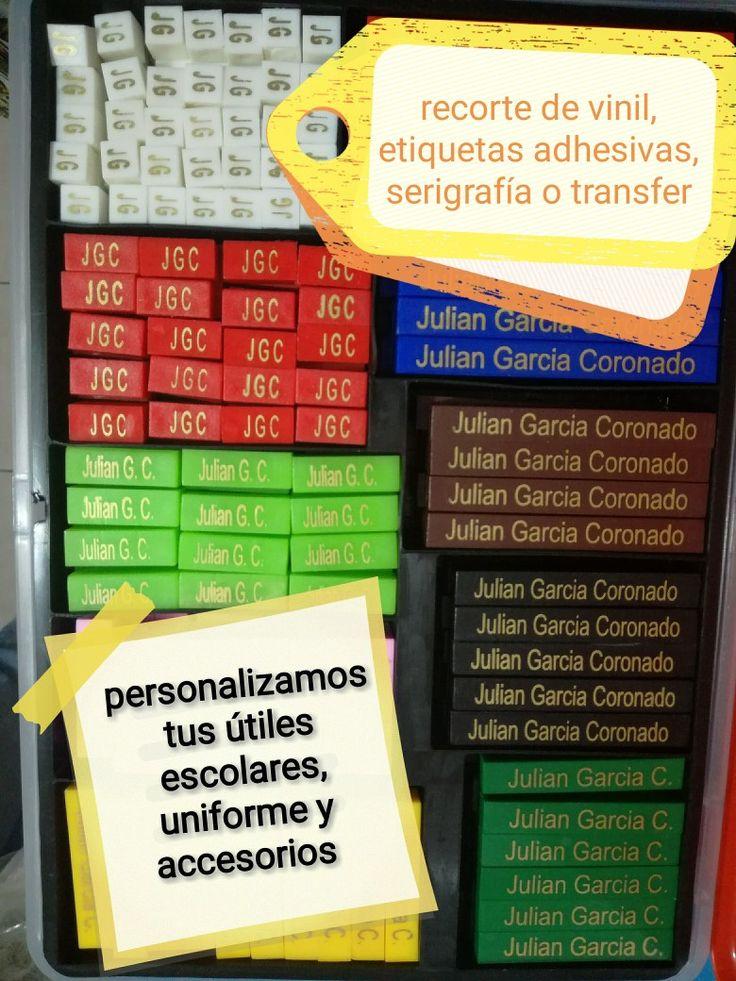 Etiquetas adhesivas para personalizar útiles escolares