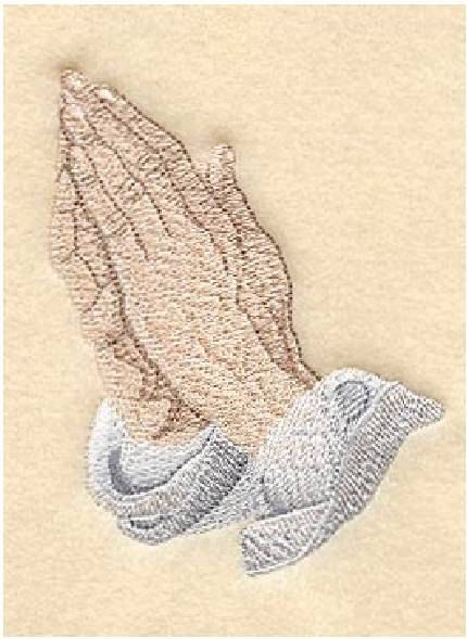 She stitched up and framed this project combining the Praying Hands and the addition of the the Lord's Prayer as a gift for her sister-in-law's birthday. Description from emblibrary.com. I searched for this on bing.com/images