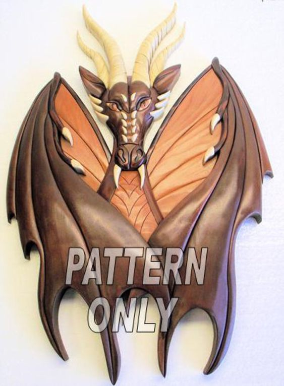 Pattern of 'Dragon Wings Wrapped' Intarsia