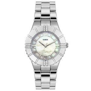 Guess 95469l Silver Tone Crystal Accented