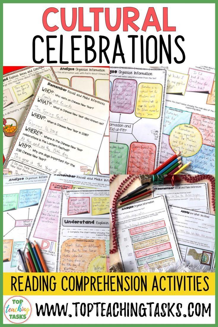 Cultural Celebrations Reading Comprehension Bundle Embrace The Multicultu Reading Comprehension Reading Comprehension Activities Improve Reading Comprehension [ 1101 x 735 Pixel ]