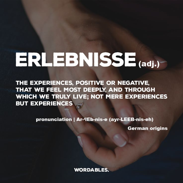 Words Definitions: Erlebnisse Definition | #wordsdefinitions