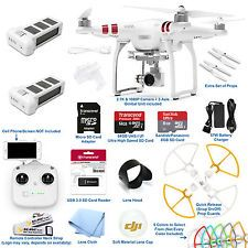 DJI Phantom 3 Standard RC Drone QuadCopter 2 Battery Combo W/ 2.7K Camera Gimbal
