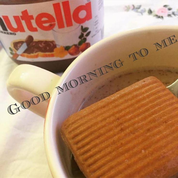 good morning to me tazza biscotto e nutella