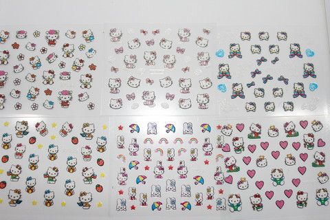 cute kitty sticker set