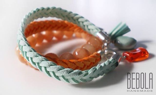 Nowości  new products  #handmade #bizuteria #bransoletka #mięta #miód #pomarańcza #krakow #bracelet