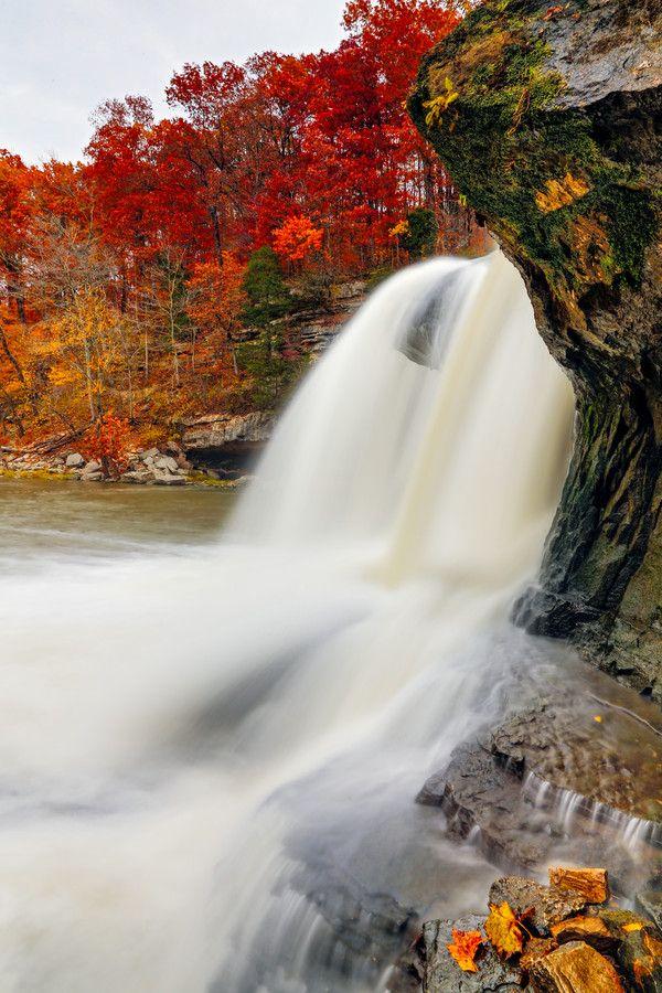 Upper Cataract Falls, Indiana  #Waterfalls #BeautifulNature #NaturePhotography #Nature #Photography #Travel #Indiana