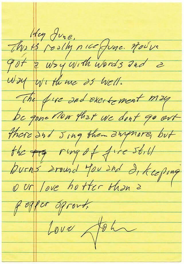 Contoh Personal Letter Untuk Pacar Johnny Cash Kutipan Surat Cinta