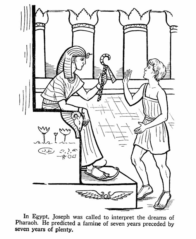 Joseph In Egypt Bible Story Coloring Page