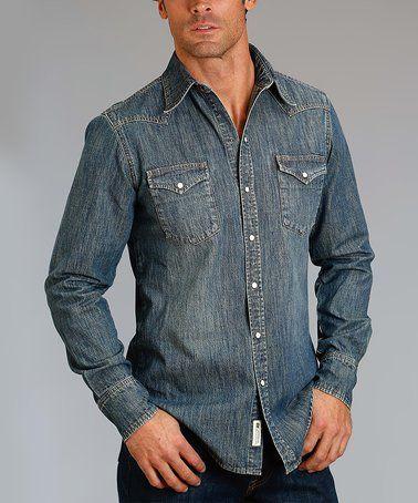 This Light Denim Button-Up Shirt - Men & Big is perfect! #zulilyfinds