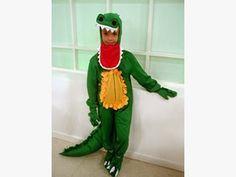 Trato o truco: como hacer un disfraz de cocodrilo para niño con patrones