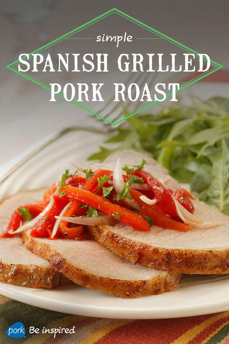 Arugula salad, Grilled pork and Pork roast on Pinterest