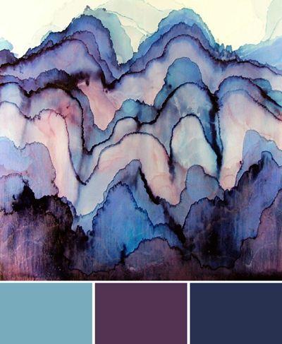 blues and purples, color palette