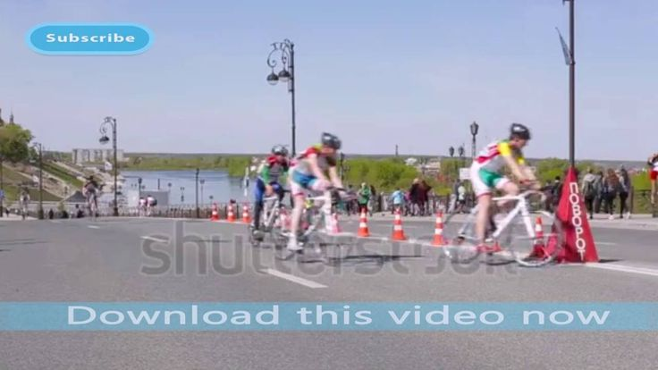 Bicycle race on the highway | Stock Footage